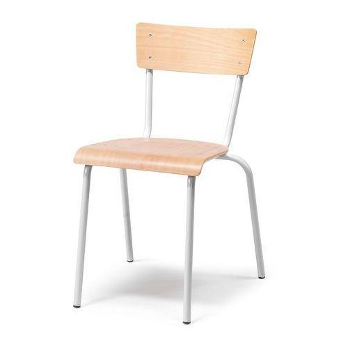 Krzesło do stołówki portland, buk, szary marki Aj produkty