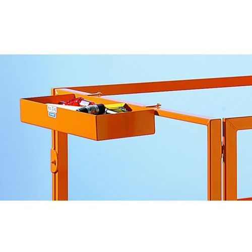 Kaiser+kraft Półka na narzędzia, żółto-pomarańczowa, ral 2000, 600x200x80 mm. pasuje do obydw