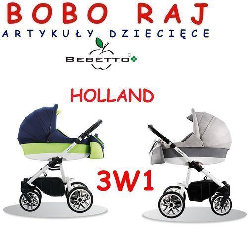 Wózek głęboko-spacerowy firmy  model holland+ fotelik maxi cosi cabriofix marki Bebetto