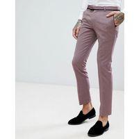 Noose & Monkey Super Skinny Tuxedo Suit Trousers With Geometric Jacquard - Purple