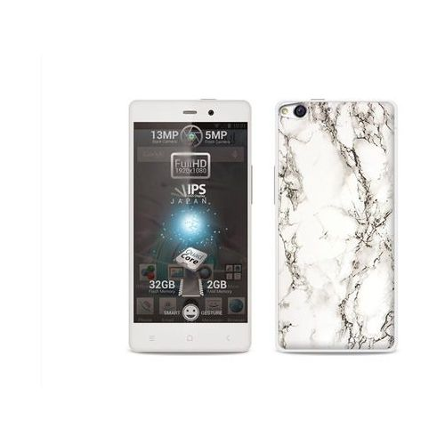 Fantastic Case - Allview X1 Soul - etui na telefon Fantastic Case - biały marmur (Futerał telefoniczny)