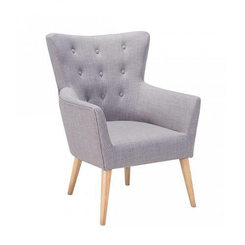 Fotel szary - fotel wypoczynkowy - do salonu - tapicerowany - Novecento