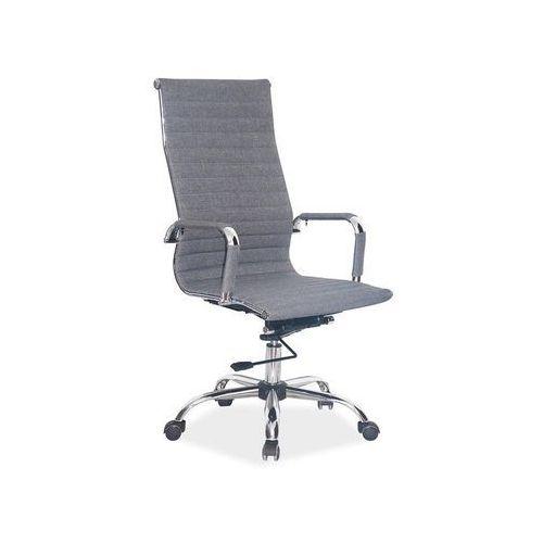 Fotel obrotowy, krzesło biurowe Q-040 szary tkanina
