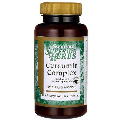Kurkumina kompleks 95% kurkuminoidów Curcumin complex 700mg 60 kapsułek Swanson z kategorii Pozostałe kosmetyki
