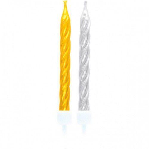 Świeczki złote/srebrne 10 sztuk (4009775344445)