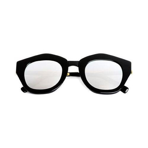 Okulary Słoneczne Spektre Mon Amour MA01I/Black/Gold/Black (Silver Mirror), kolor żółty