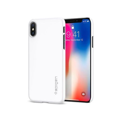 Spigen Etui sgp thin fit apple iphone x jet white - biały (8809565300097)