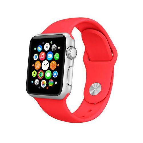 4kom.pl Pasek sportowy apple watch 42mm czerwony - czerwony