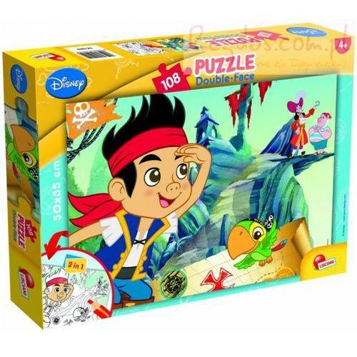 Puzzle dwustronne 108 jake i piraci z nibylandii marki Liscianigiochi
