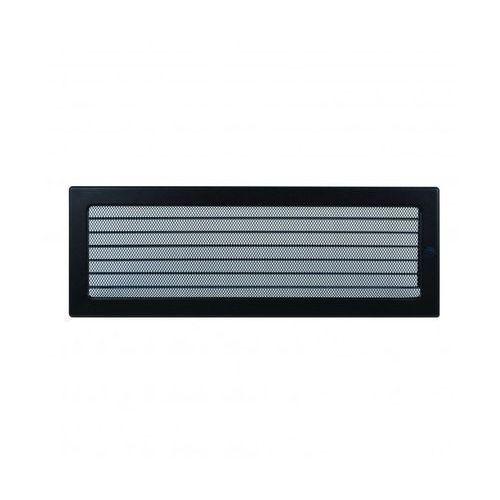 Kratki kratka kominkowa prostokątna czarna z żaluzją 170x370 mm (5901350042557)