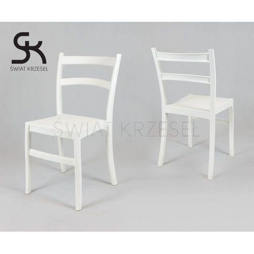 SK DESIGN KR032 BIAŁE KRZESŁO POLIPROPYLENOWE RETRO - Biały, kolor biały