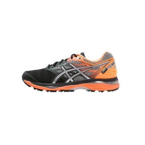 ASICS GELCUMULUS 18 GTX Obuwie do biegania treningowe black/silver/hot orange, kolor czarny