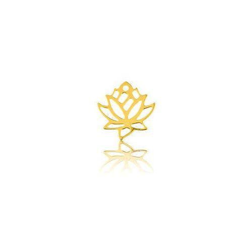 Blaszka ozdobna kwiat lotosu, złoto próby 585, BL 55-AU