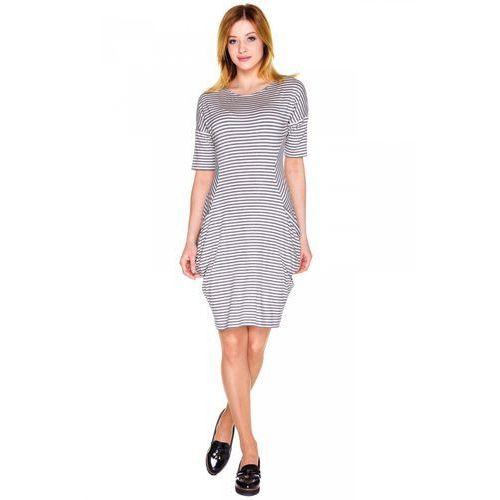 Sukienka w paski z kieszeniami - Vito Vergelis, z