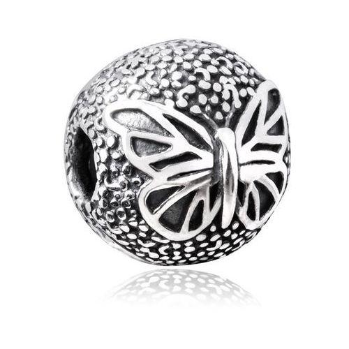 Charms klips srebrny krople mokoszy paź królowej marki Murrano