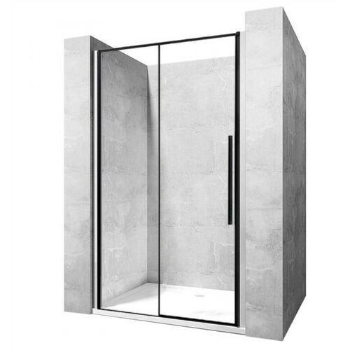 Drzwi prysznicowe z czarnymi profilami 90 cm solar black marki Rea