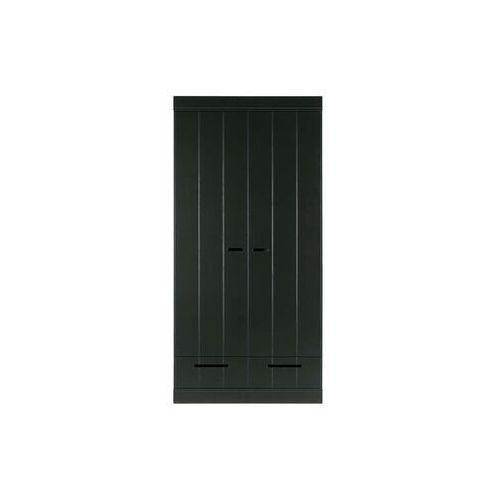 szafa connect 2-doors/drawer czarna [fsc] 360302-z marki Woood