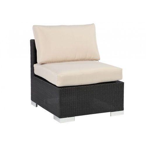 Fotel ogrodowy alanda z technorattanu w kolorze czarnym marki Vente-unique