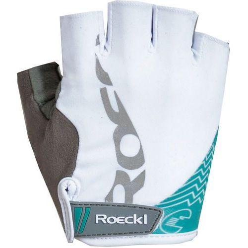 Roeckl doria rękawiczka rowerowa kobiety biały/turkusowy 6 2018 rękawiczki szosowe (4044791415281)