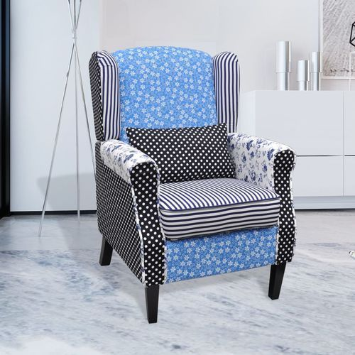 Vidaxl fotel patchworkowy