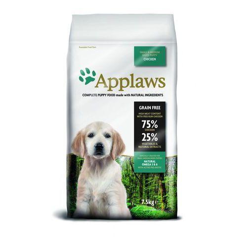 7,5 kg Applaws + Spike podkładka pod miskę dla psa gratis! - Puppy Small & Medium Breed, kurczak (5060122494083)