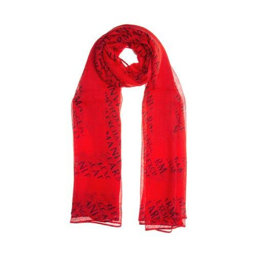 Armani Exchange SCARF Szal poppy red/navy (8054523707511)