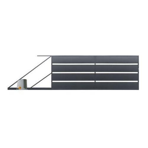 Brama przesuwna z automatem Polbram Steel Group Leda 4 x 1 58 m ocynk antracyt lewa (5901122311102)