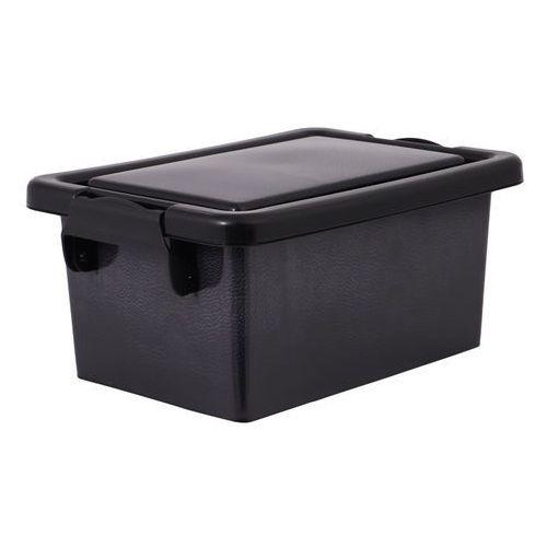 Pojemnik plastikowy czarna skóra Kaja 3,7 l
