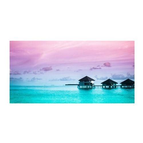 Foto obraz akryl Bungalowy nad wodą