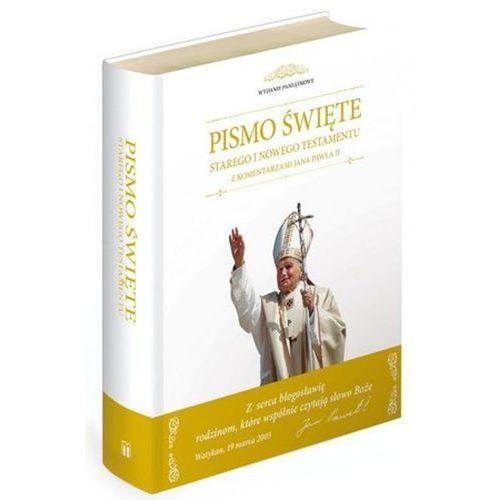 Biblia z komentarzami Jana Pawła II / Obwoluta biała M, oprawa twarda