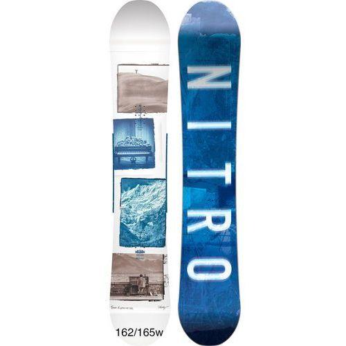 Potestowa deska snowboardowa team expousure camber 162 wide cm 2018 marki Nitro