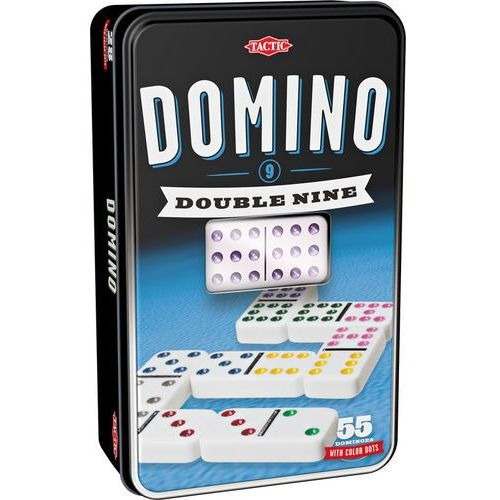 Domino dziewiątkowe (w puszce z oknem)