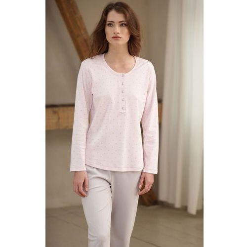 Piżama Cana 385 S-XL dł/r L, różowy jasny-mocca. Cana, L, M, S, XL