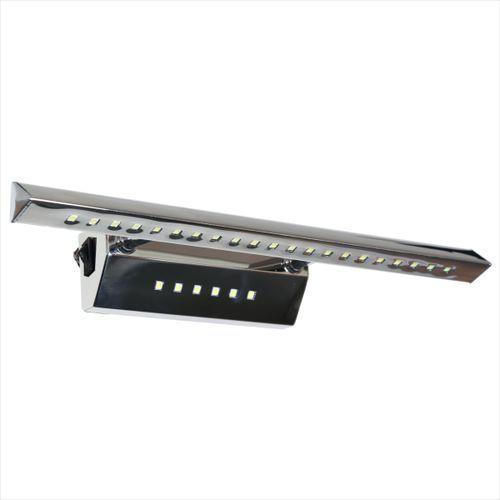 Minimalistyczna LAMPA ścienna FORTE 20-27030 Candellux metalowa OPRAWA rurka LED 7W trójkątna chrom