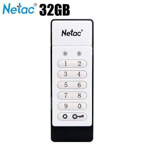 Netac U618 32GB USB 2.0 Flash Drive Keypad Lock (pendrive)