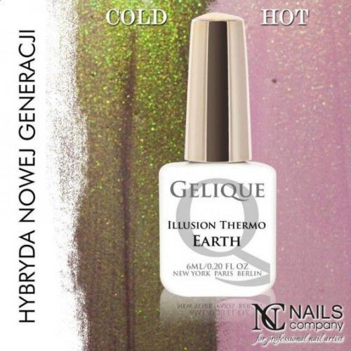 Nc nails company Nails company gelique illusion thermo earth 6ml - żel hybrydowy