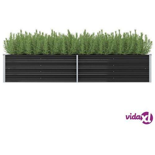 Vidaxl donica ogrodowa, antracytowa, 240x80x45 cm, galwanizowana stal (8719883670874)