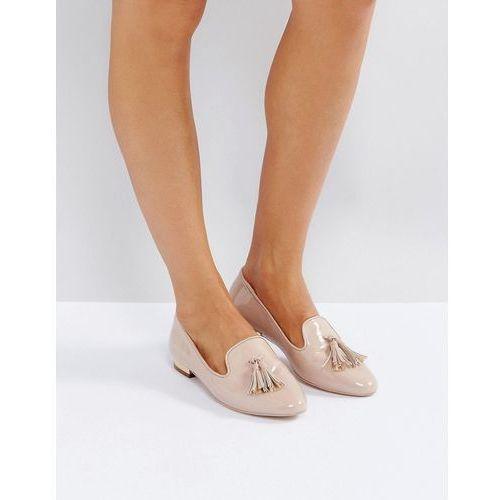 Miss kg flat metal trim heel slipper - beige