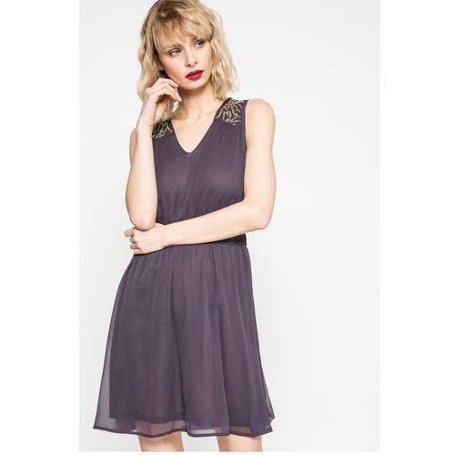 Vero Moda - Sukienka Lollie, kolor fioletowy