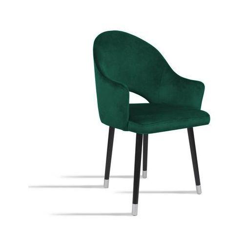 Krzesło BARI zielony/ noga czarny silver/ SO260, 28 dni roboczych