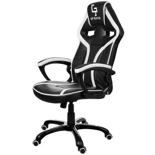 Giosedio Fotel biurowy czarno-biały,model gpr042 (5902751541762)