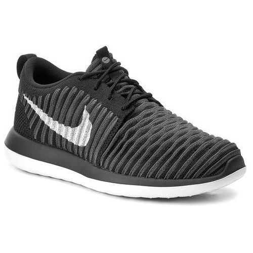 Nike Buty - roshe two flyknit (gs) 844619 001 black/white/anthracite/drk gry