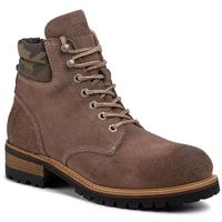 Trapery TOMMY JEANS - Suede Lace Up Camo Boot EM0EM00350 Dusty Olive LDY, w 7 rozmiarach