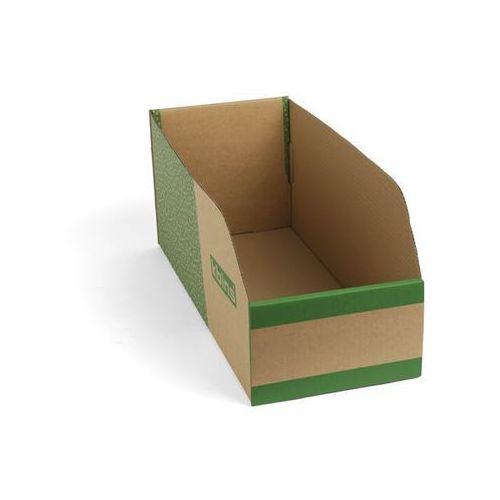 Skrzynki regałowe z kartonu, składane, opak. 75 szt., dł. x szer. x wys. 500x200