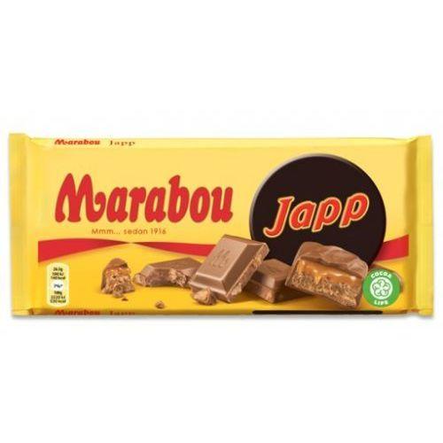 Marabou - japp - czekolada mleczna z kawałkami batonika japp - 185g - ze szwecji (7622210391643)