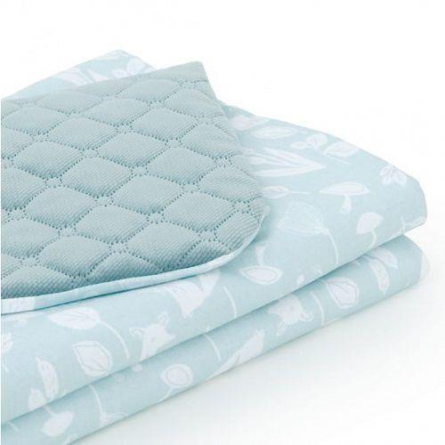 Mamo-tato Kocyk dla niemowląt i dzieci velvet pikowany dwustronny 75x100 - las pistacjowy - khaki