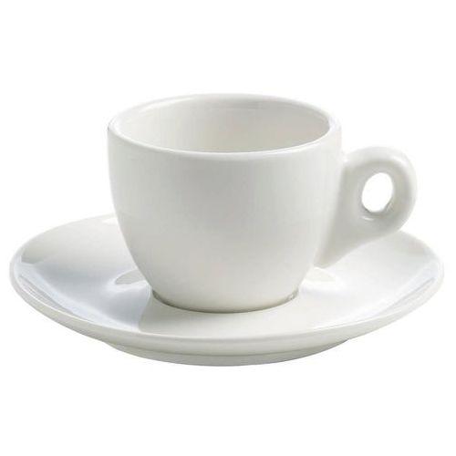 Maxwell & Williams - Basics Round - Filiżanka do espresso ze spodkiem, 70 ml