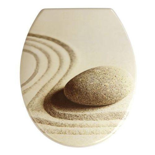 Wenko Deska sedesowa sand and stone - duroplast, (4008838196519)