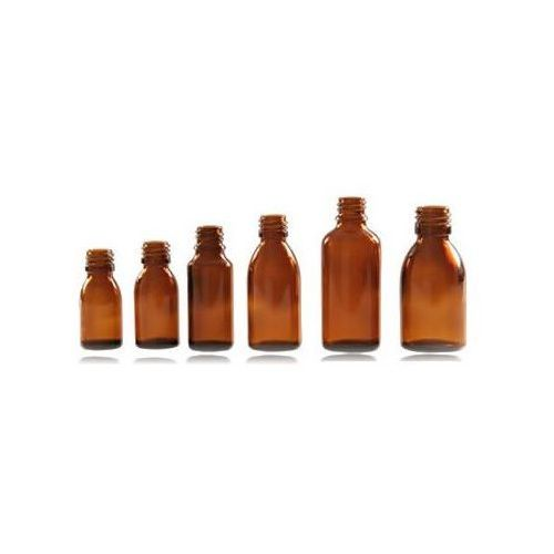 Retro image Butelki apteczne 4 x 100 ml szkło brązowe