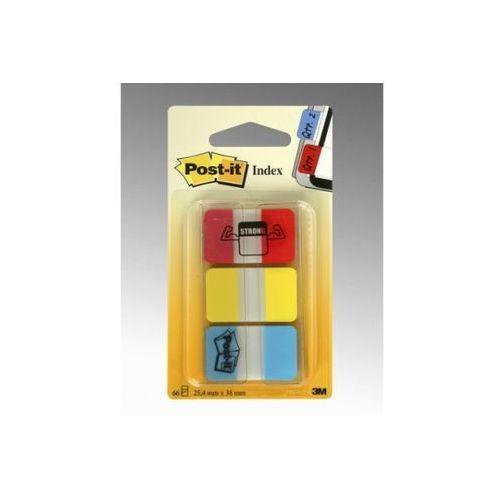 3m Post-it zakładki indeksujące silne 686-ryb, 25x38mm, żółte + czerwone + niebieskie